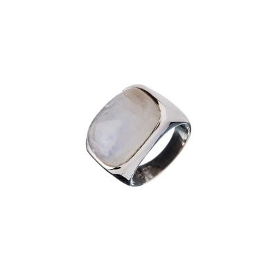 Anello di Labradorite Bianca e Argento 925