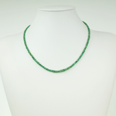 Collana Corta Unisex in Smeraldi ed Argento 925