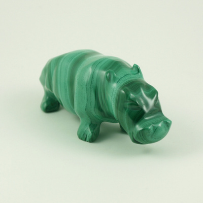 Ippopotamo in Malachite
