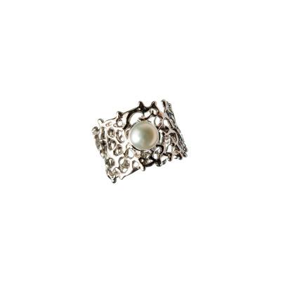 Anello con Perla e Argento 925