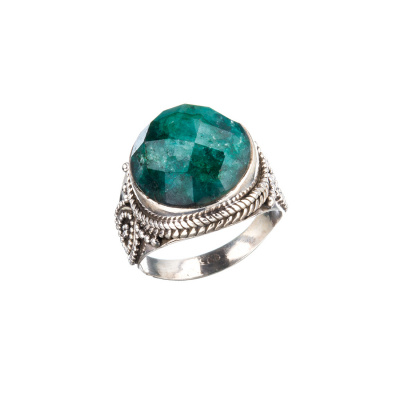 Anello con Smeraldo ed Argento 925