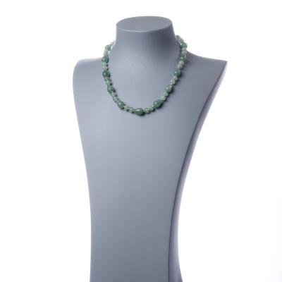 Collana con elementi a goccia di Avventurina Verde