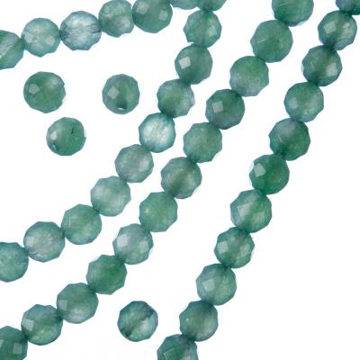 Avventurina Verde - Filo di sfere sfaccettate da 6mm