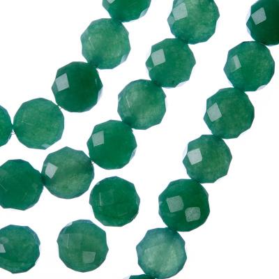 Avventurina Verde - Filo di sfere sfaccettate da 10mm