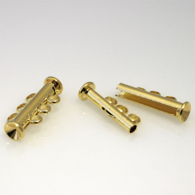 Chiusura magnetica a tre fili color Oro 2.3x1.2 cm - 1 pz.