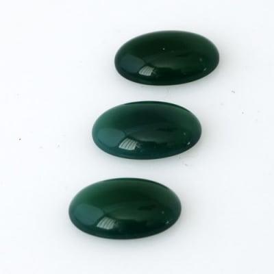 Cabochon in Agata Verde - Ovale 1.0x1.4x0.4