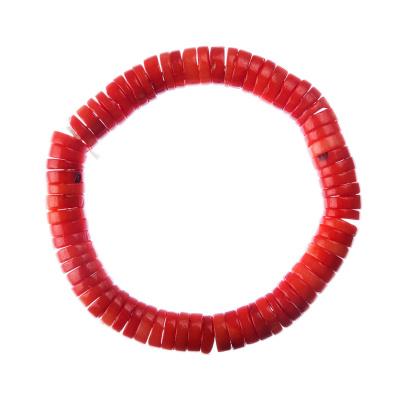 Bracciale unisex elastico di Corallo bambù rosso