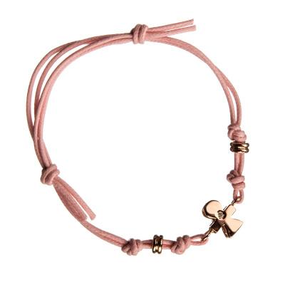 """Bracciale """"Lei"""" in Oro rosa 18k e Diamante 0.01 ct"""