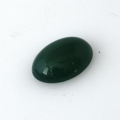 Cabochon in Agata Verde - Ovale 1.2x1.6x0.5