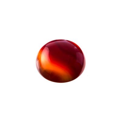 Cabochon in Corniola grado AB - Tondo diametro 1.8 cm