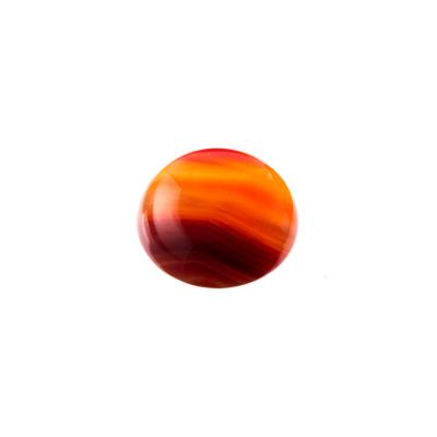 Cabochon in Corniola grado AB - Tondo diametro 1.6 cm