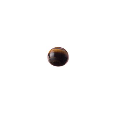 Cabochon in Occhio Di Tigre - Tondo diametro 0.8 cm
