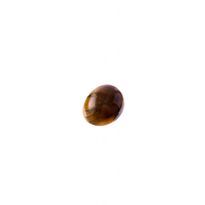 Cabochon in Occhio Di Tigre - Ovale 1.0x0.8x0.4 cm