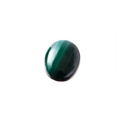 Cabochon in Malachite - Ovale 1.8x1.3x0.4 cm