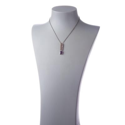 Collana in Argento 925 con pendente in Ametista e Marcasite