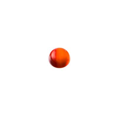 Cabochon in Corniola grado AB - Tondo diametro 0.8 cm