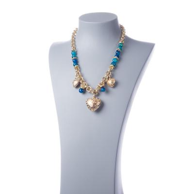 Collana di Bronzo e Agata Blu