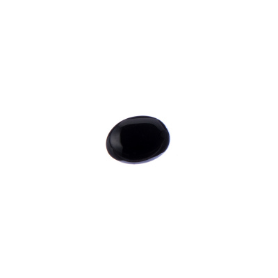 Cabochon in Agata Nera - Ovale 1.0x0.8x0.4 cm
