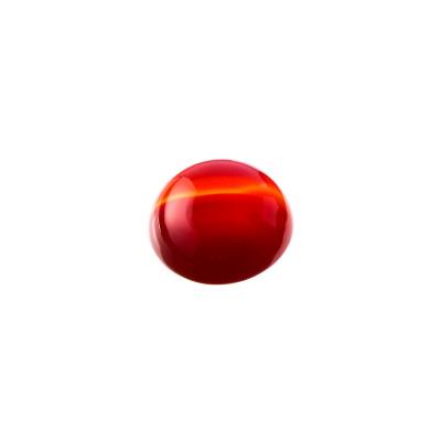 Cabochon in Corniola grado AB - Tondo diametro 1.4 cm