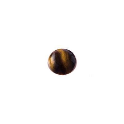 Cabochon in Occhio Di Tigre - Tondo diametro 1 cm