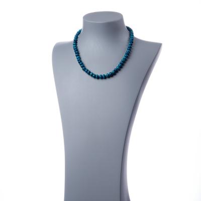 Collana a rondelle di Agata Blu Striata