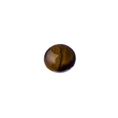Cabochon in Occhio Di Tigre - Tondo 1.2x0.4 cm