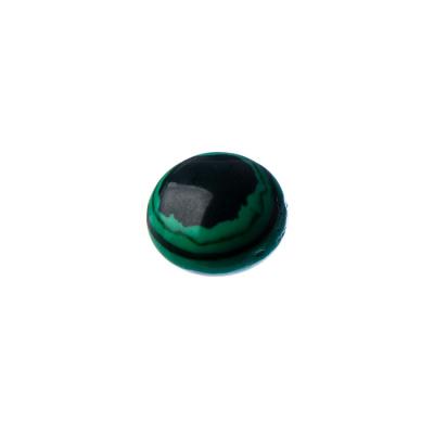 Cabochon in Malachite Sintetica - Tondo 1.4x0.5 cm