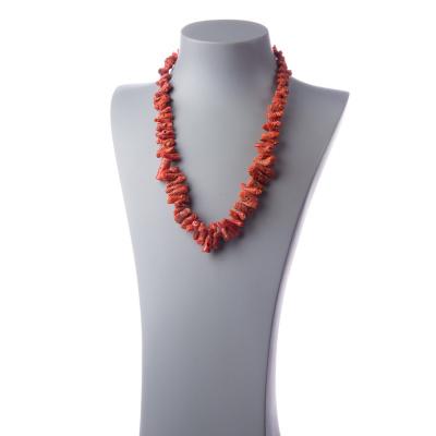 Collana di Corallo Rosso Naturale e Argento 925 Rodiato