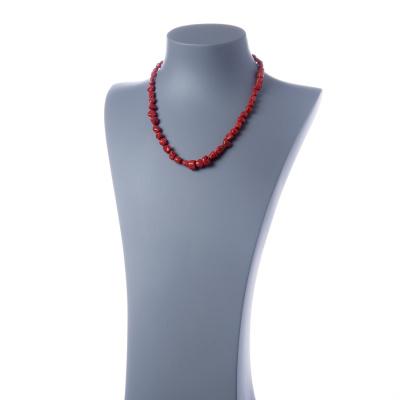 Collana di Corallo Sardo Rosso Naturale e Argento Dorato