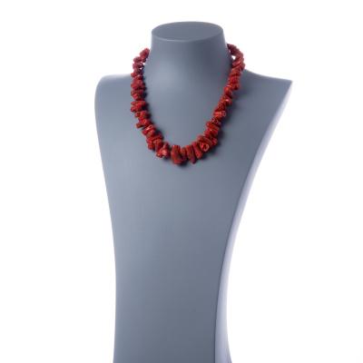 Collana di Corallo Sardo Rosso Naturale e Argento 925