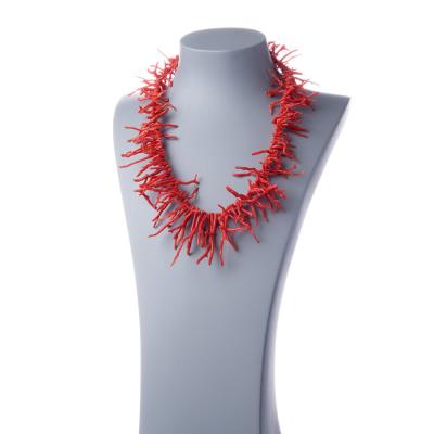 Collana di Corallo Rosso e Argento 925 rodiato