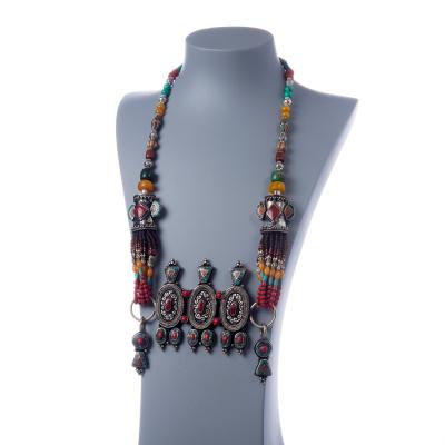 Collana Etnica con elementi in Turchese, Corallo ed Ambra