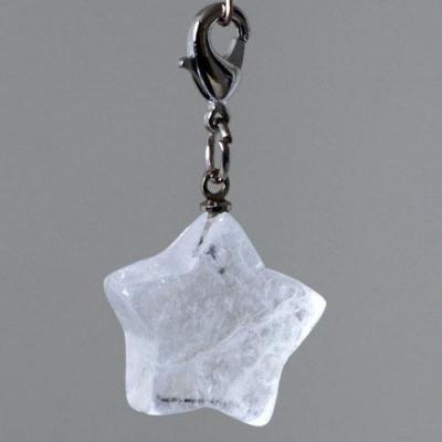 Charm (Ciondolo) in Cristallo di Rocca levigato