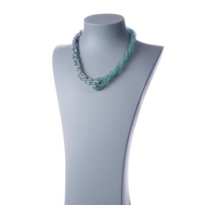 Collana Torchon in Fluorite Verde, Fluorite Multicolor e Argento 925
