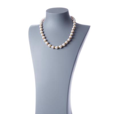 Collana in Perle e Argento dorato, sfere 10mm