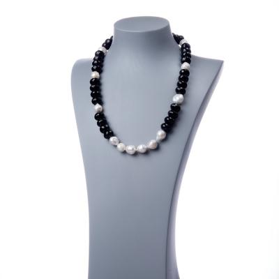 Collana in Perle, Onice nera e Argento 925