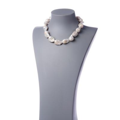 Collana corta di Perle Barocche e Argento 925
