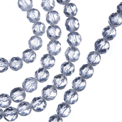 Cristallo di Rocca - Filo di sfere sfaccettate da 6mm