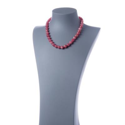 Collana Corta di Rodocrosite e Ag 925