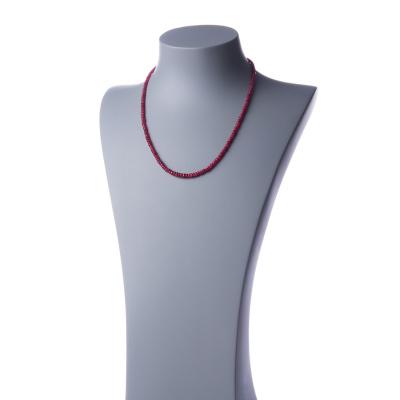 Collana Corta Unisex in Rubini ed Argento 925