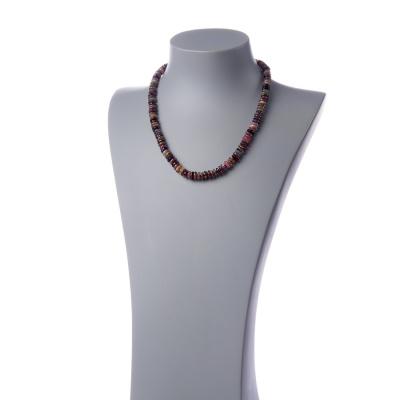 Collana di Tormalina multicolore in rondelle e Argento 925