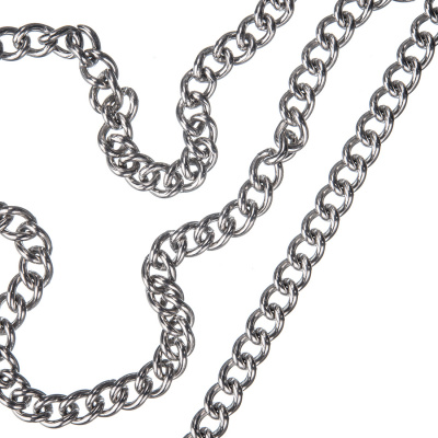 Catena in alluminio trama Steel Curb Chain - 1 metro