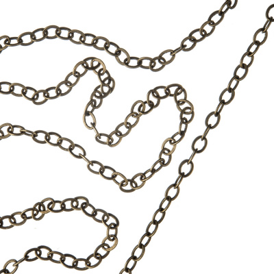 Catena in alluminio trama Brass Cable Chain - 1 metro