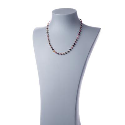 Collana rosario in Tormalina e Argento 925