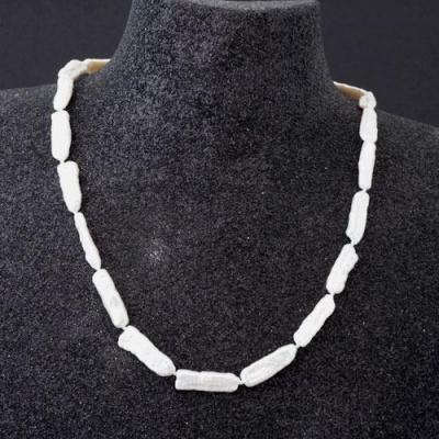 Collana Corta di Perle Keshi e Argento 925