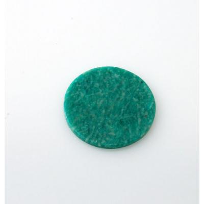 Piastra di Amazzonite - Tonda 3.5x3.5x0.3