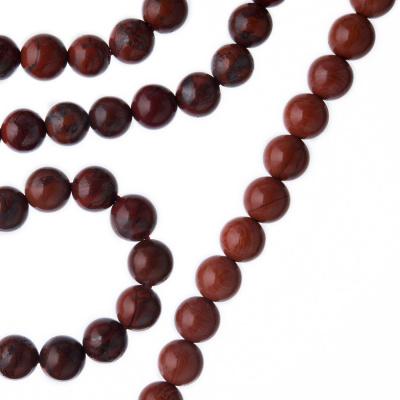 Diaspro Rosso Qualità Extra - Filo di sfere lisce da 6mm