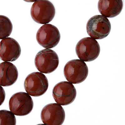 Diaspro Rosso - Sfera liscia da 10mm