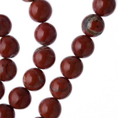 Diaspro Rosso Qualità Extra - Filo di sfere lisce da 10mm