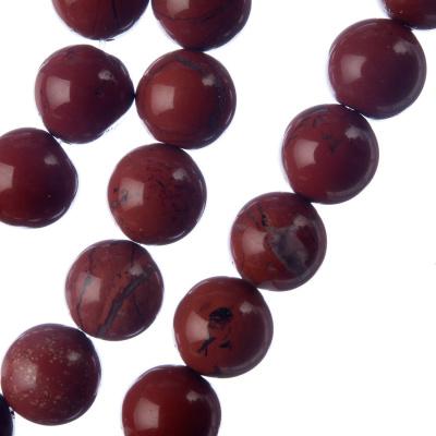 Diaspro Rosso Qualità Extra - Filo di sfere lisce da 12mm